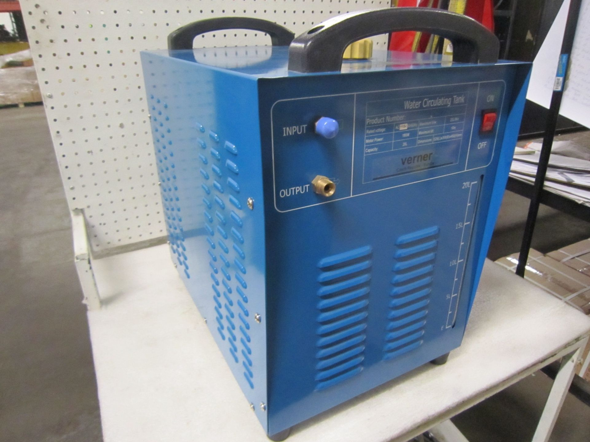 Lot 60 - Verner Water Circulating Tig Welding Water Cooler - 20 Litre Capacity Brand new - 115V Single Phase