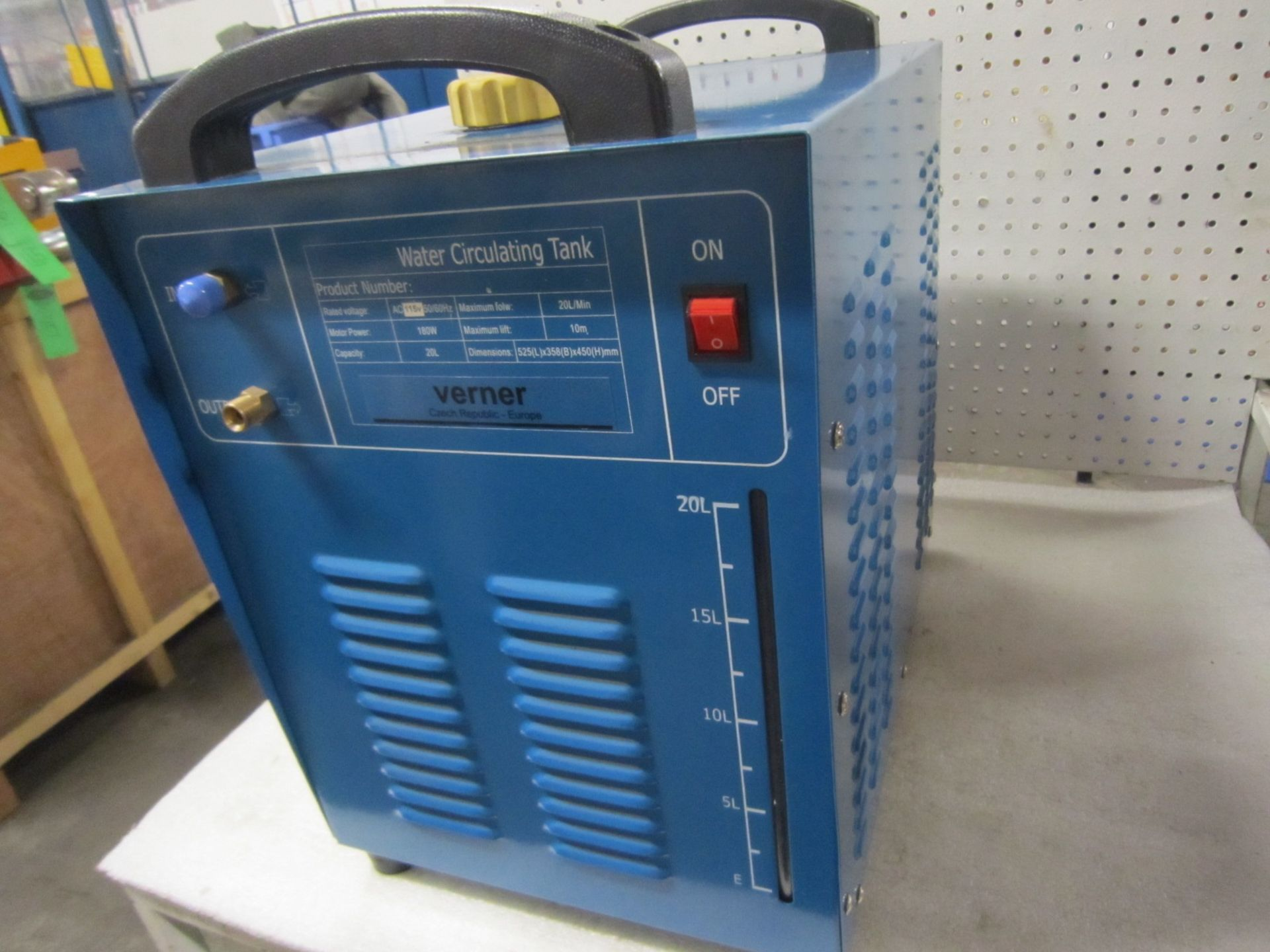 Lot 59 - Verner Water Circulating Tig Welding Water Cooler - 20 Litre Capacity Brand new - 115V Single Phase