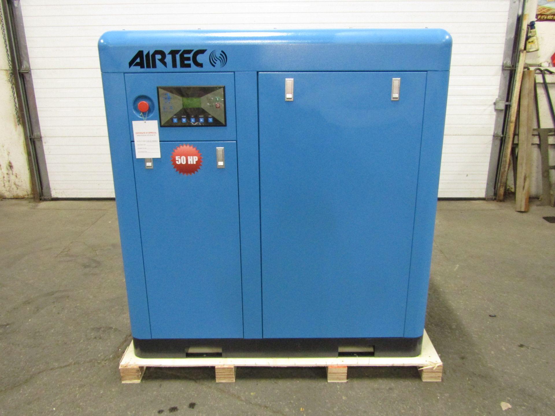 Lot 261 - Airtec 50HP Rotary Screw Air Compressor - MINT UNUSED COMPRESSOR