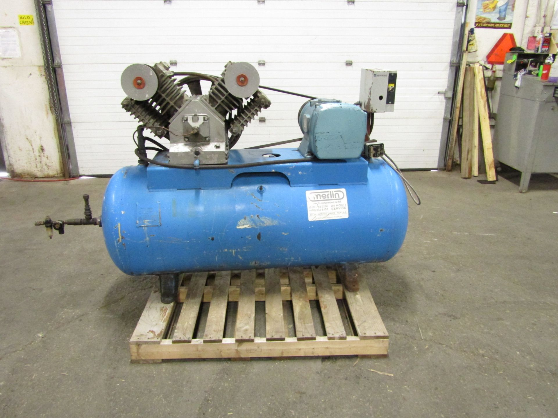 Lot 245 - Merlin Air Compressor 15HP with 200 gallon tank
