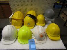 Lot of 10 Hard Hats Safety Helmets