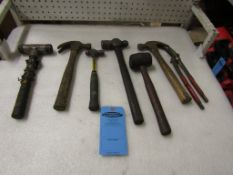 Lot of Hammers and Mallets