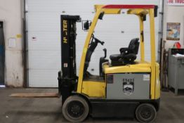 FREE CUSTOMS - 2011 Hyster 5000lbs Capacity Forklift with 3-stage mast - ELECTRIC with sideshift LOW