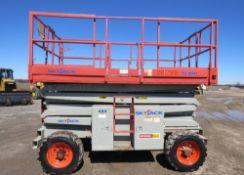 2006 SkyJack Scissor Lift model SJ8841 - 41 feet lift with Rugged Tires for rough Diesel