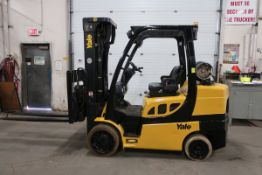 FREE CUSTOMS - 2017 Yale 8000lbs Capacity Forklift with 3-stage mast - LPG (propane) with sideshift