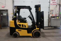 FREE CUSTOMS - 2017 Yale 7000lbs Capacity Forklift with 3-stage mast - LPG (propane) with