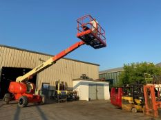 MINT JLG model 600S Boom Lift with 60' platform height with 4x4 NICE MACHINE with LOW hours