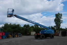 MINT Genie Zoom Boom Lift model S80 with 80' height 4x4 with extendable axles and LOW HOURS