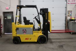 FREE CUSTOMS - 2009 Hyster 8000lbs Capacity Electric Forklift with sideshift and 3-stage mast