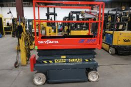 SkyJack Electric Scissor Lift model 3219 - 19 feet lift, 32 inch width deck with pendant controller