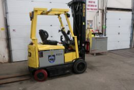 FREE CUSTOMS - 2014 Hyster 5000lbs Capacity Forklift with 4-STAGE mast - electric with charger