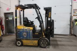 FREE CUSTOMS - 2014 Yale 5000lbs Capacity Forklift with 3-stage mast - electric with charger with