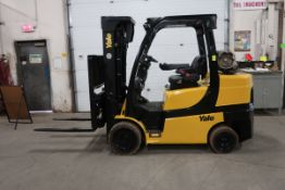 FREE CUSTOMS - 2015 Yale 8000lbs Capacity Forklift NICE UNIT - sideshift 3-stage mast and fork
