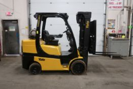 FREE CUSTOMS - 2015 Yale 8000lbs Capacity Forklift with 3-stage mast - LPG (propane) with