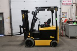 2012 Yale 5000lbs Capacity Electric Forklift with 3-stage mast and sideshift with charger