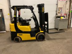 FREE CUSTOMS - 2015 Yale 6000lbs Capacity Forklift with 3-stage mast - LPG (propane) with