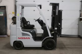 FREE CUSTOMS - 2013 Nissan Unicarrier 5000lbs Capacity Forklift with 3-stage mast - LPG (propane)