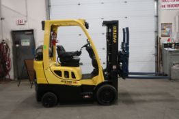 FREE CUSTOMS - 2013 Hyster 5000lbs capacity LPG (propane) Forklift with DUAL FORKS 4-forks with