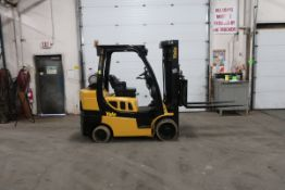FREE CUSTOMS - 2016 Yale 7000lbs Capacity Forklift with 3-stage mast - LPG (propane) with