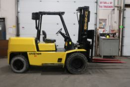 FREE CUSTOMS - Hyster 9000lbs Capacity OUTDOOR Forklift Diesel DUAL FRONT TIRES with 3-stage