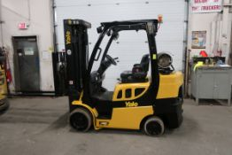 FREE CUSTOMS - 2017 Yale 7000lbs Capacity Forklift with 3-stage mast - LPG (propane) with sideshift