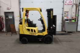 FREE CUSTOMS - 2014 Hyster 5000lbs Capacity Forklift with 3-stage mast - LPG (propane) with