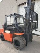 FREE CUSTOMS - Nissan 9000lbs Capacity OUTDOOR Forklift - LPG (propane) with sideshift and cab