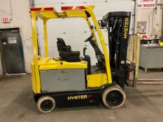 FREE CUSTOMS - 2013 Hyster 6500lbs Capacity Forklift with 4-stage mast - electric with sideshift &