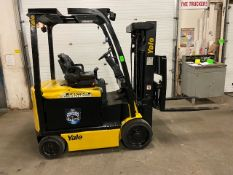 FREE CUSTOMS - 2014 Yale 5000lbs Capacity Forklift with 3-stage mast - ELECTRIC with sideshift