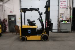 FREE CUSTOMS - 2011 Yale 7000lbs Capacity Forklift with 3-stage mast - electric with sideshift &