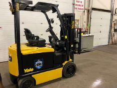 FREE CUSTOMS - 2012 Yale 5000lbs Capacity Forklift with 3-stage mast - electric with sideshift