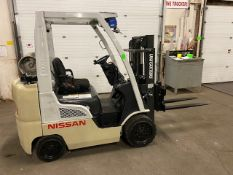 FREE CUSTOMS - 2013 Nissan 4500lbs Capacity Forklift with BUILT IN SCALE - LPG (propane)