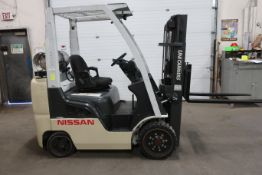 FREE CUSTOMS - 2013 Nissan Unicarrier 4300lbs Capacity Forklift - LPG (propane) (no propane tank
