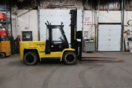 FREE CUSTOMS - Hyster 15500lbs Capacity OUTDOOR Forklift Diesel with sideshift DUAL FRONT TIRES