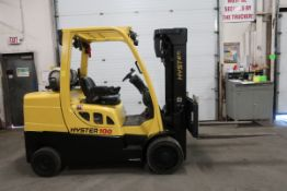 FREE CUSTOMS - Hyster 10000lbs Capacity Forklift with 3-stage mast - LPG (propane) with sideshift