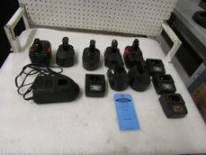 Large Lot of Rechargable Batteries with chargers