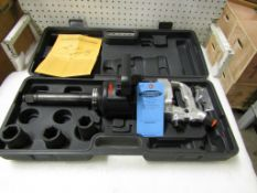 "Airtec Extended Reach 1"" Drive Air Impact Wrench - MINT UNUSED impact gun complete with sockets in"