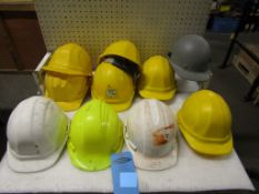 Lot of 10 Hard Hats Safety Helmets