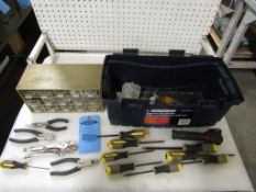 Mastercraft Toolbox with pliers and other assorted tools