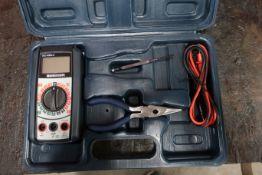 Mastercraft Multimeter Unit in case model 052-0060-2 with accessories