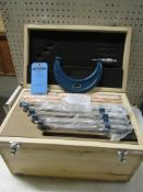 """MINT 6-12"""" / 150-300mm Micrometer Set in case with standard calibration rods"""