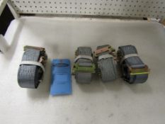 Lot of 4 (4 units) Tie Down Ratchet Straps for truck use 15' length BRAND NEW