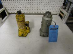 Lot of 2 Hydraulic Jacks including Enerpac unit