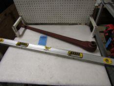 Heavy Duty Socket Wrench and Level