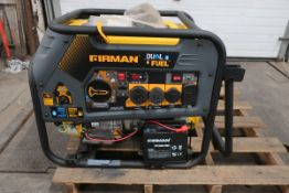 FIRMAN Model 10000/8000 Dual Fuel Portable Generator GAS 9050/7250 Watt 50A 120/240V Electric