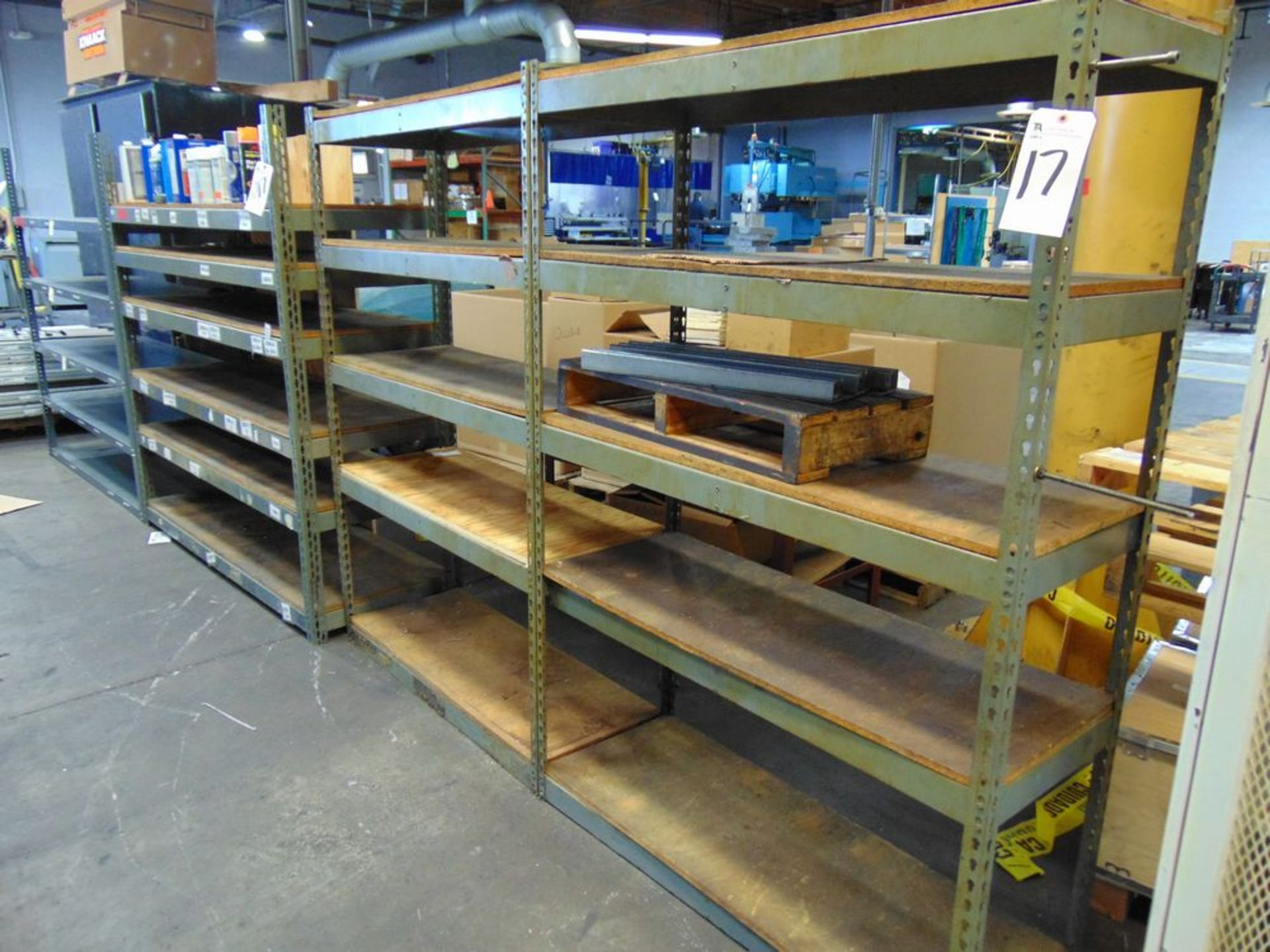 (Lot) Parts Shelving