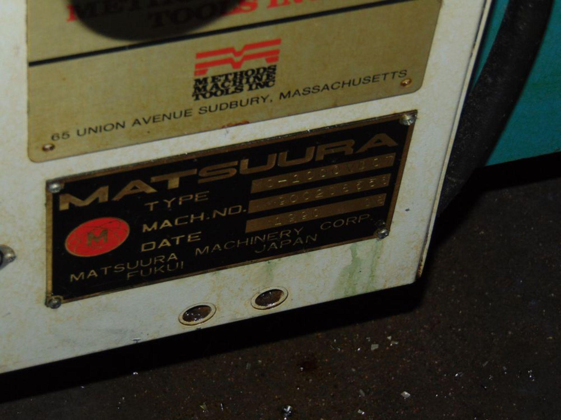 Lot 25 - (1990) Matsuura mod. MC1000 VDCA, 3-Axis CNC Vertical Machine Center, Dual Spindle, 3' x 4' Table,