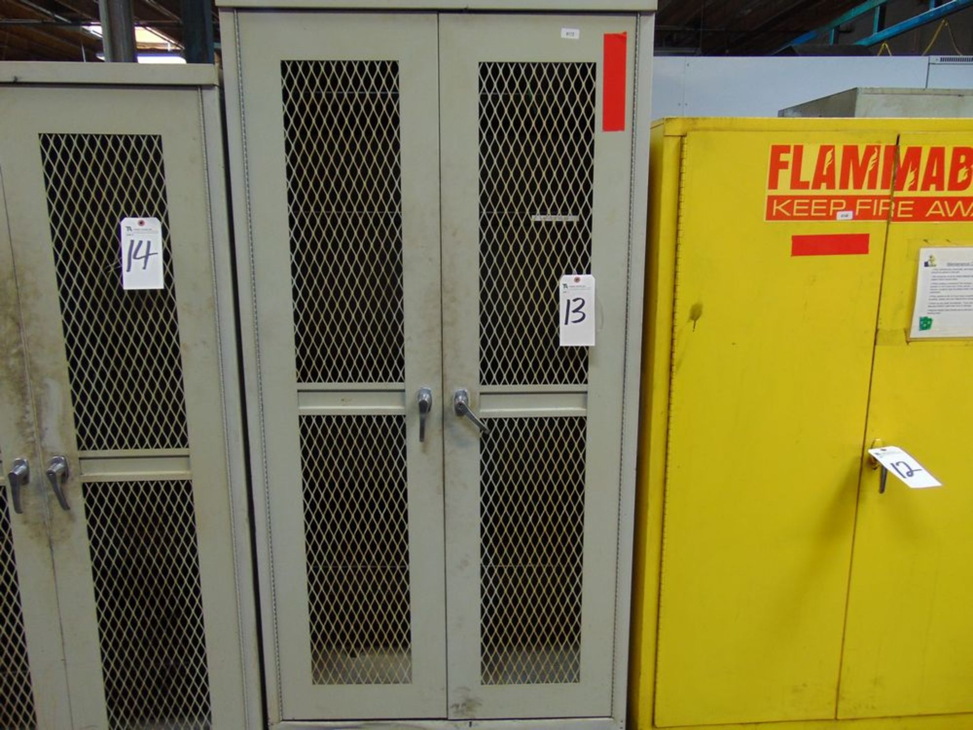 "Lot 13 - Steel Storage Cabinet, 36"" x 24"" x 78"""