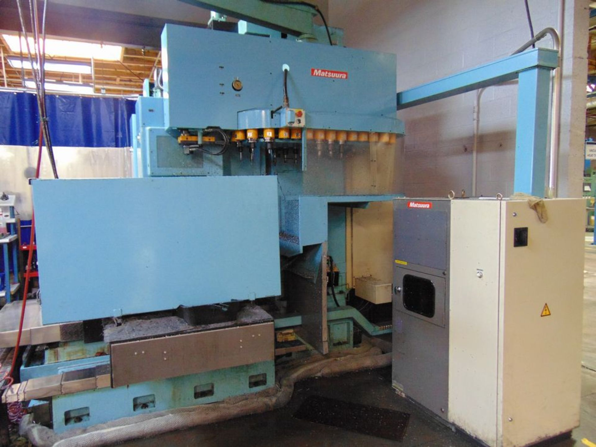 "Lot 29 - (1998) Matsuura mod. MC1500V-DC, 4-Axis CNC Dual Spindle CNC Vertical Machine Center, 60"" x 25"""