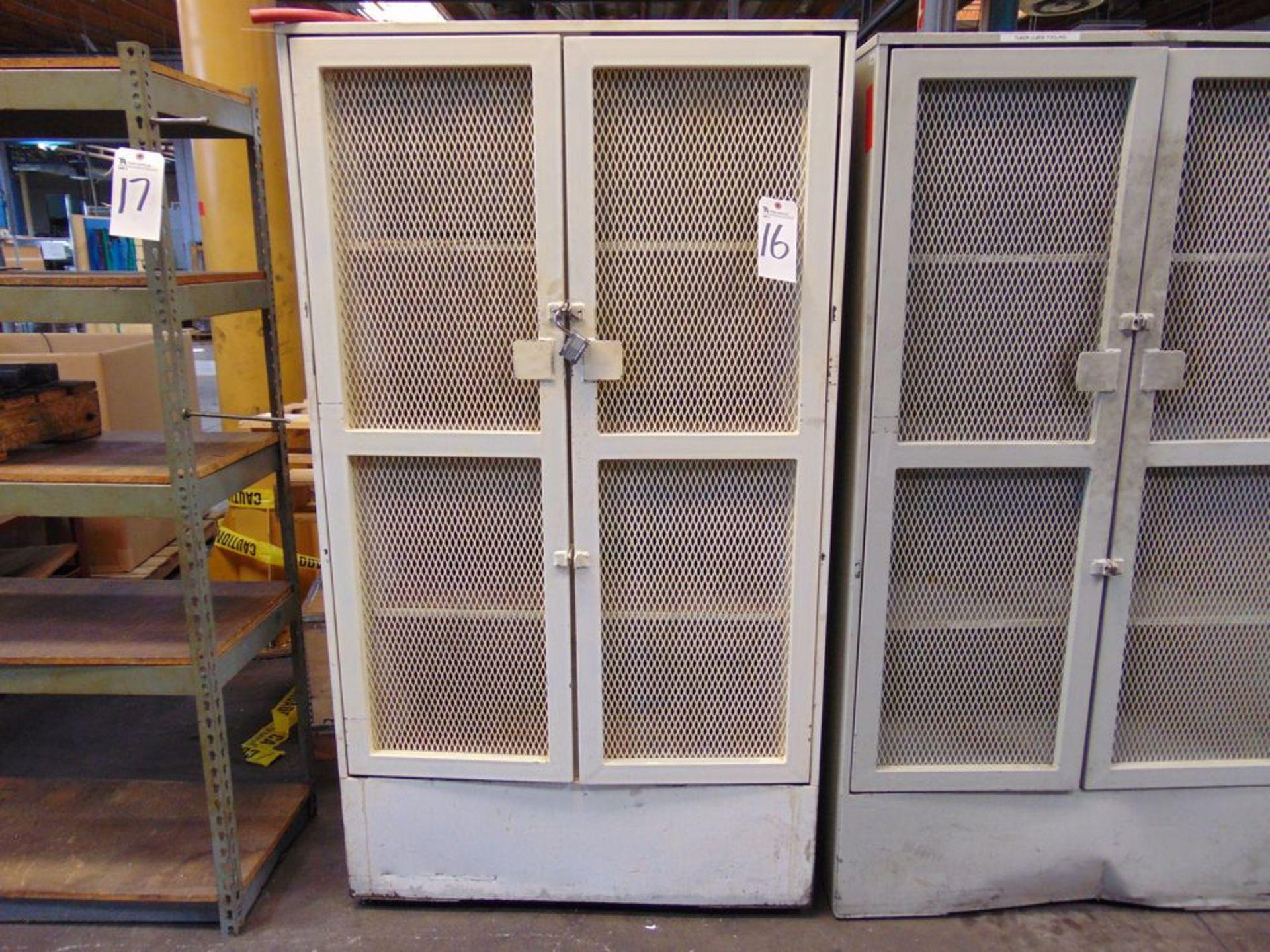 "Lot 16 - Steel Storage Cabinet, 41"" x 24"" x 72"""